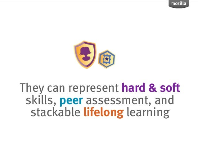 They can represent hard & soft skills, peer assessment, and  stackable lifelong learning