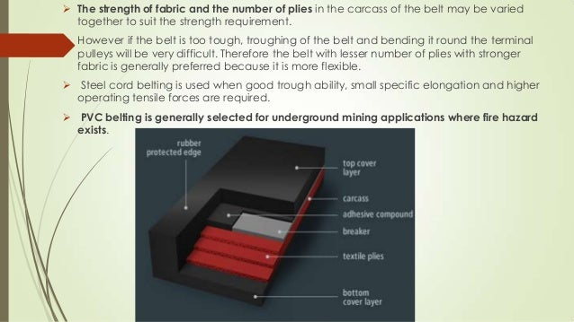 3. COVERS  Covers are used in conveyor belt constructions in order to protect the base conveyor belt carcass and, if poss...