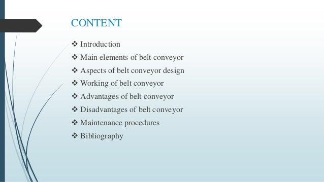 Belt conveyor Slide 2
