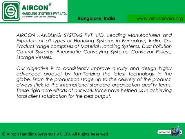 Belt Conveyors Aircon Handling