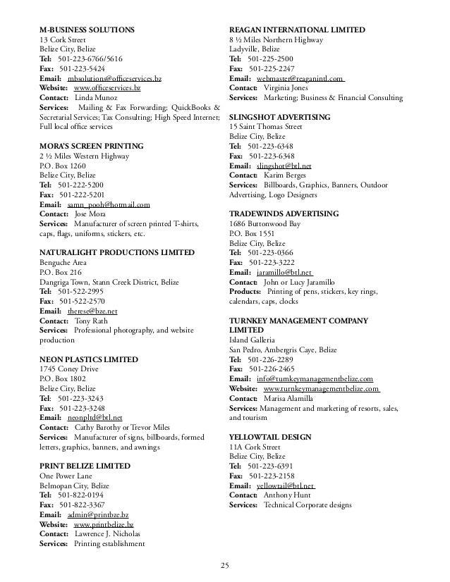 BELTRAIDE - Belize Importers & Exporters Directory