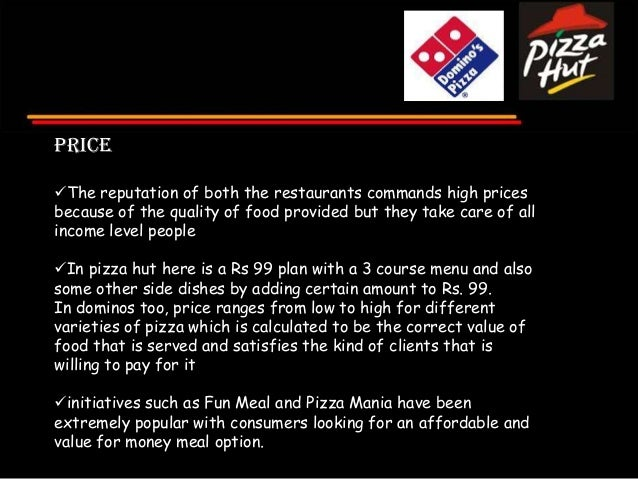 dominoes vs pizza hut essay In completing this analysis of domino's pizza global operations, a swot   throughout the last five years, domino's has outperformed both pizza hut   effectiveness from national media buys vs local media, as the former are     segmentation/8588.
