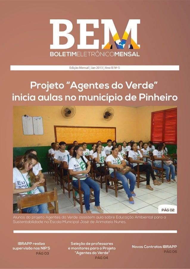BEM - 5° edição de janeiro de 2013