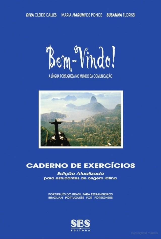 Bem vindo - livro de exercícios de português