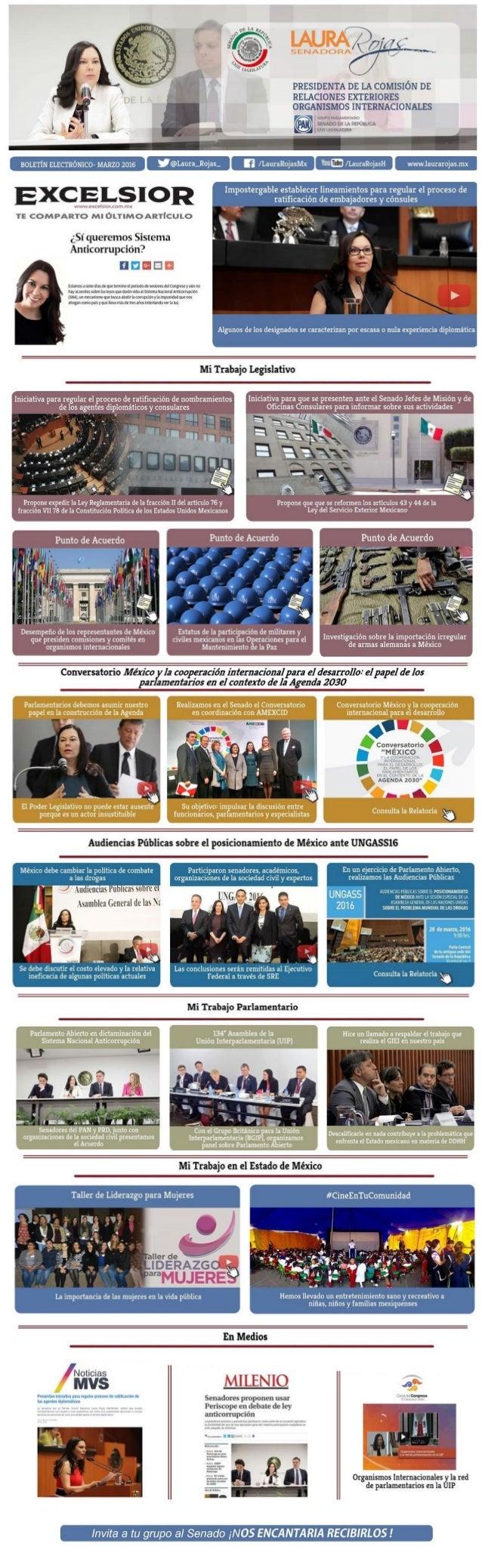 #Entérate de mis actividades legislativas realizadas durante el mes de Marzo 2016