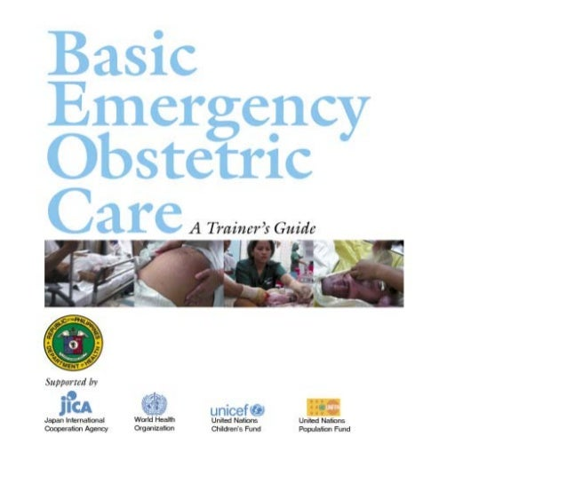 Basic Emergency Obstetric Care A Trainer's Guide Department of Health 2004