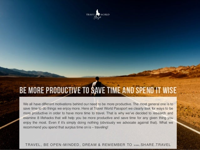 How to Be More Productive and Save Time Slide 2