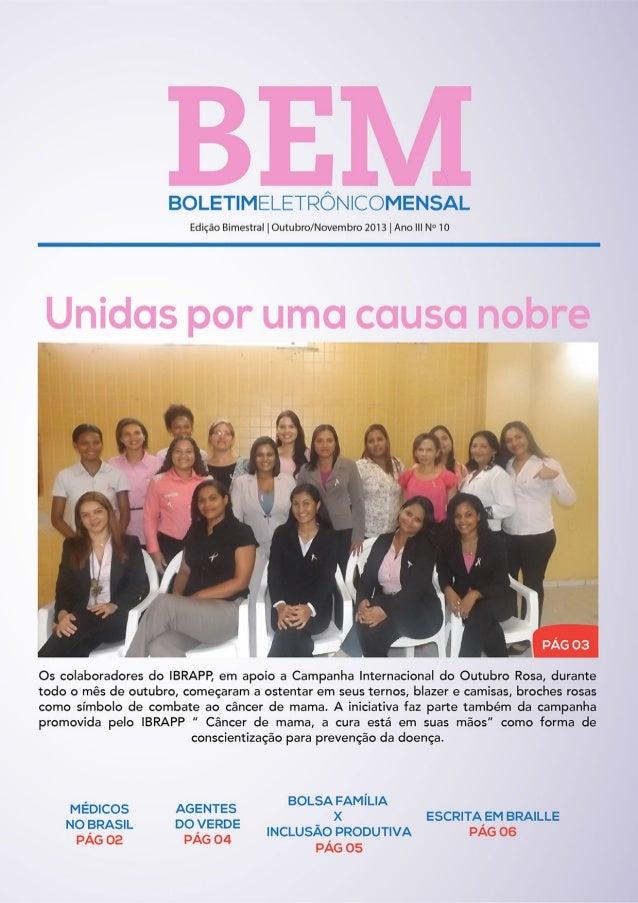 BEM - 10° edição de Novembro de 2013