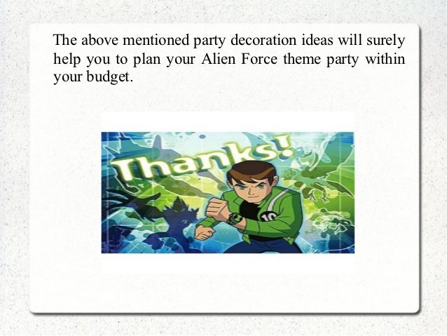 Ben 10 Party Decorations Pictures  from image.slidesharecdn.com