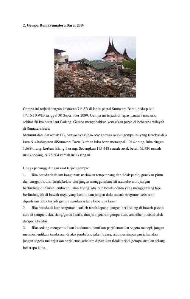 Kliping Bencana Alam:Banjir, Tsunami, Tanah Longsor dan