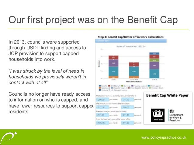 The benefit cap: the police and practice Slide 3