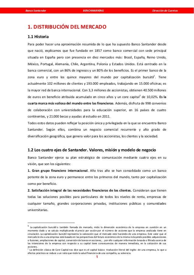 Banco Santander                                      BENCHMARKING                                                      Dir...