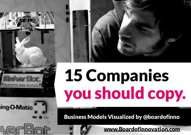 15 Companies you should copy. Business Models Visualized by @boardofinno www.Boardofinnovation.com