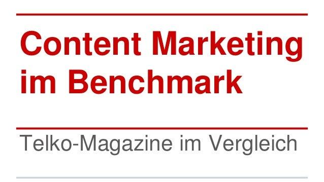 Content Marketing im Benchmark Telko-Magazine im Vergleich