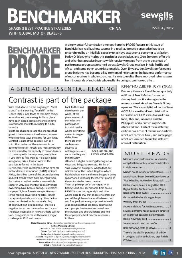 BenchmarkerSharing best practice strategies                                                               CHINA           ...