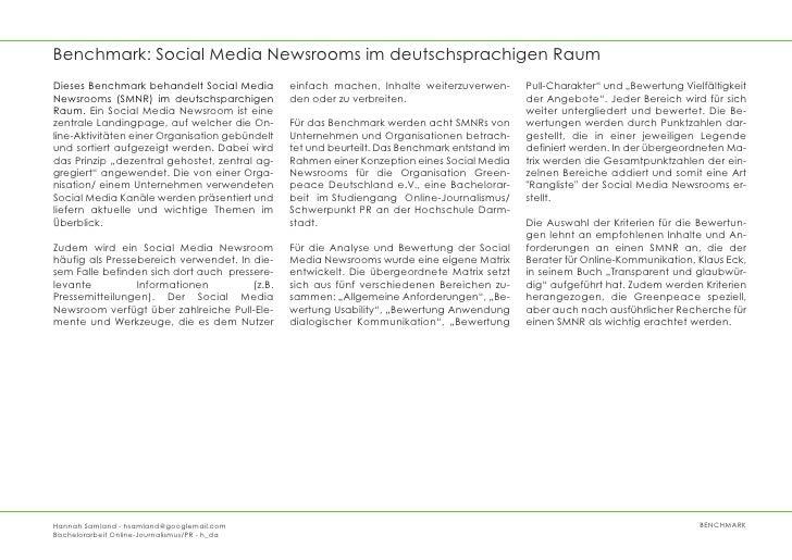 Benchmark: Social Media Newsrooms im deutschsprachigen RaumDieses Benchmark behandelt Social Media         einfach machen,...