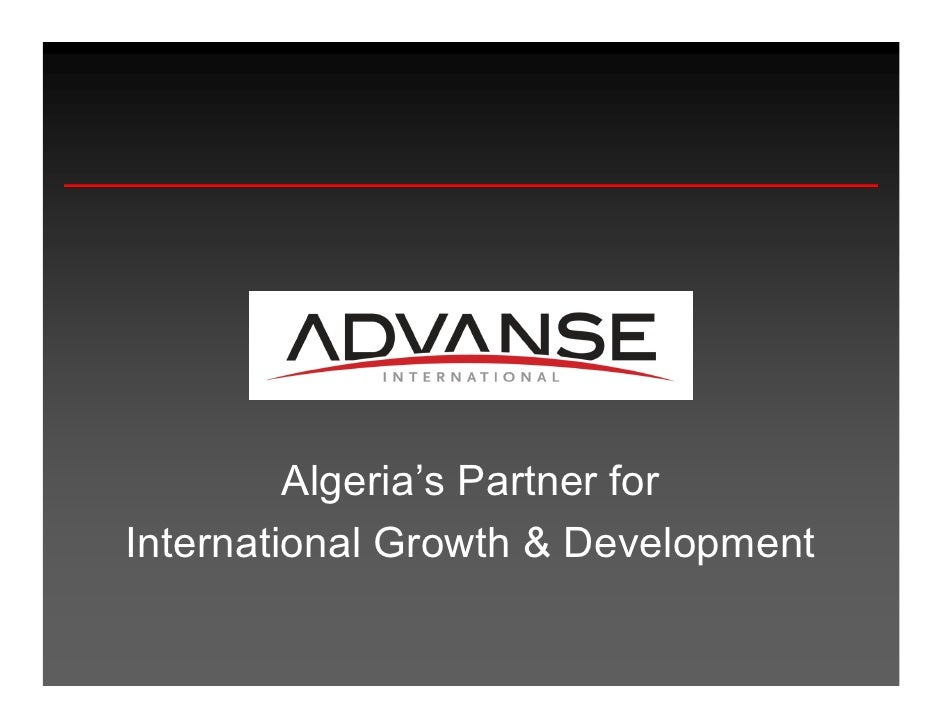 Algeria's Partner for International Growth & Development