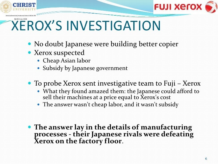 "how fuji xerox and xerox compete business essay ""the new fuji xerox will be better positioned to compete in today's environment with truly global scale, increased presence in fast-growing markets, and innovation capabilities to effectively ."