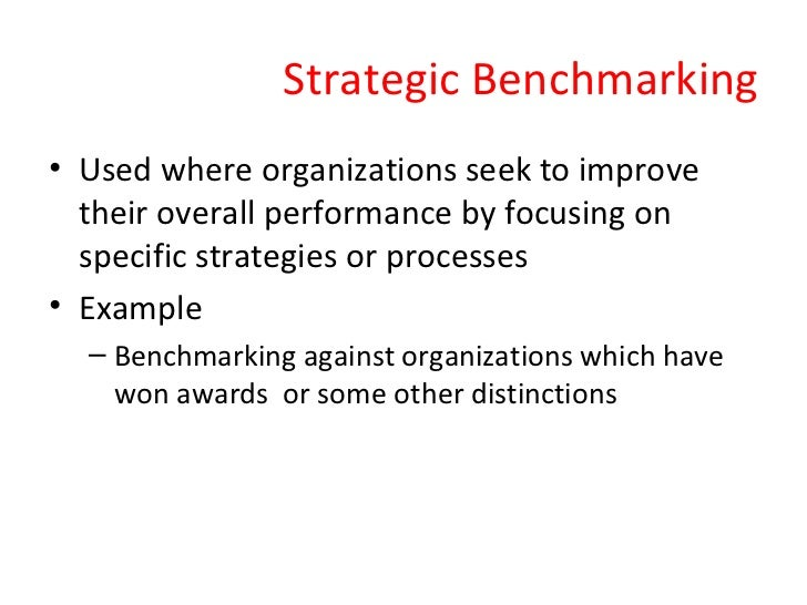 7 Types of Competitive Benchmarking