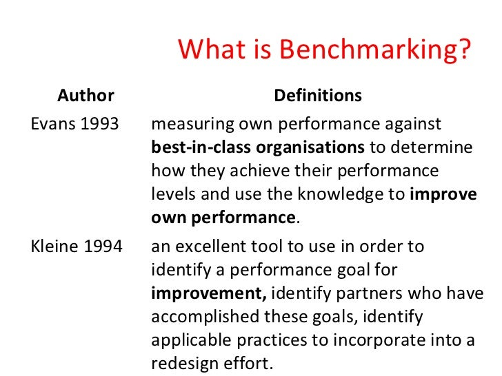 the incorporation of the benchmarking technique View essay - busi 601 individual learning project ii from busi 601 at liberty running head: the benchmarking technique 1 individual learning project ii: the incorporation of the.