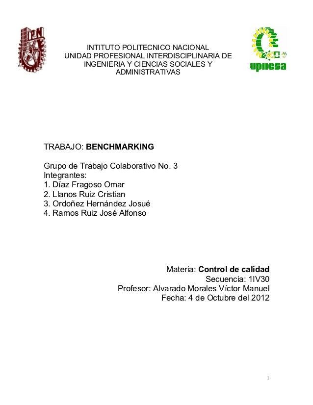 INTITUTO POLITECNICO NACIONAL     UNIDAD PROFESIONAL INTERDISCIPLINARIA DE         INGENIERIA Y CIENCIAS SOCIALES Y       ...