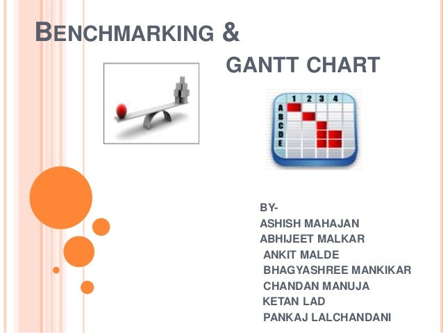 BENCHMARKING &            GANTT CHART                 BY-                 ASHISH MAHAJAN                 ABHIJEET MALKAR  ...