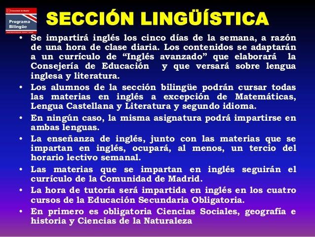 LUIS GARCÍA BERLANGA SECCIÓN • Advanced English • Natural Science • Social Sciences. Geography and History • Technology • ...