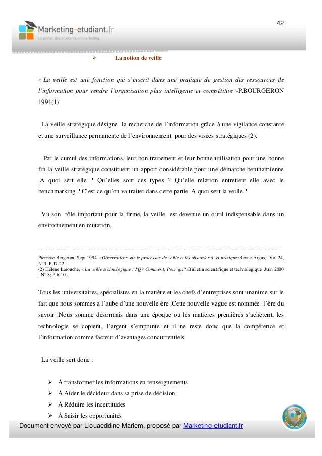 veille strat and 233gique et pme bergeron pierrette