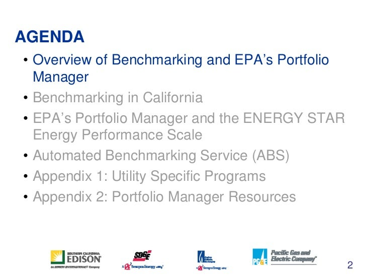 ENERGY STAR's Portfolio Manager Tool and Benchmarking in CA (AB 1103) Slide 2