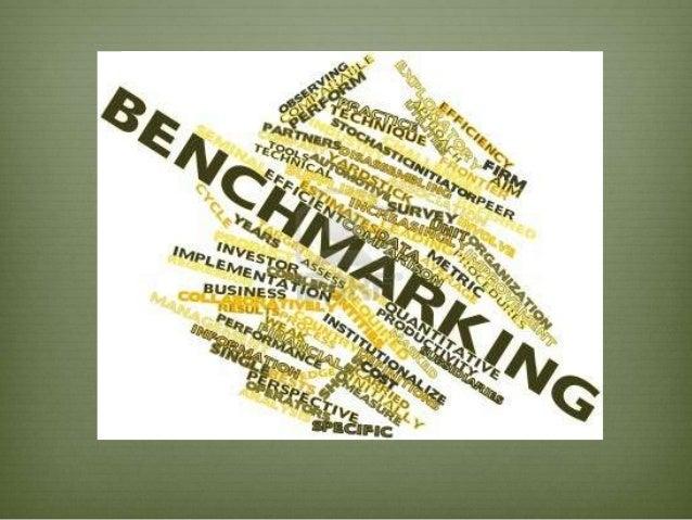 """Consiste en tomar """"comparadores"""" o benchmarks a aquellos productos, servicios y procesos de trabajo que pertenezcan a orga..."""