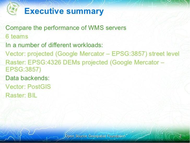 WMS Performance Shootout 2011 Slide 2