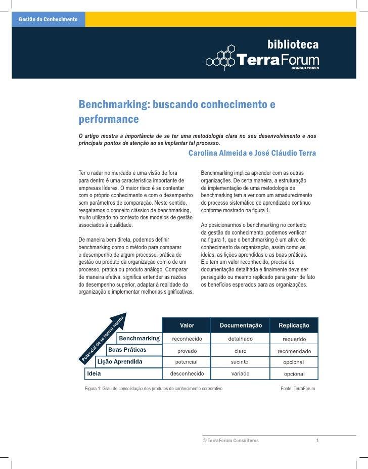 Benchmarking: buscando conhecimento e performance