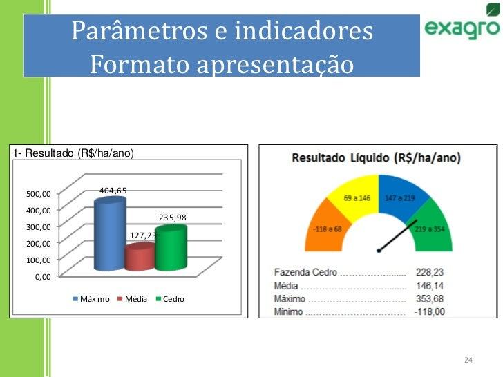 Parâmetros e indicadoresFormato apresentação<br />24<br />