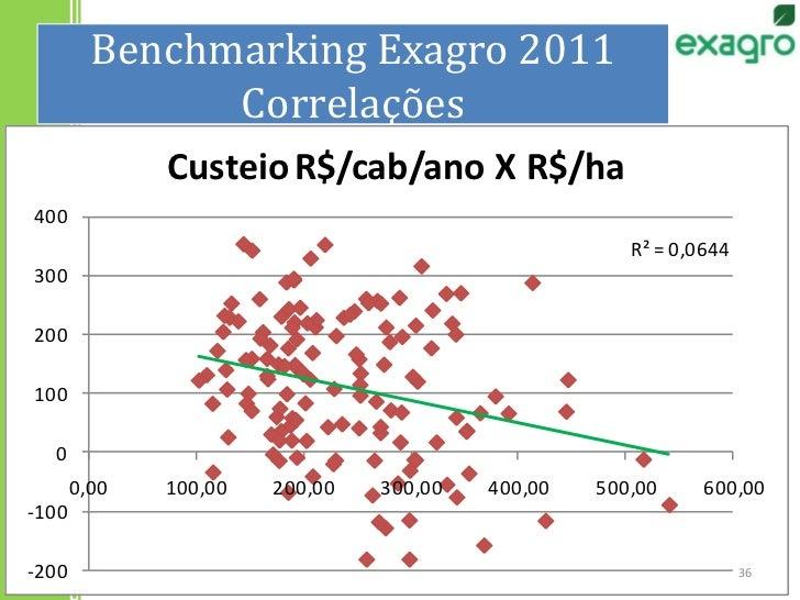 Benchmarking Exagro 2011Correlações<br />36<br />