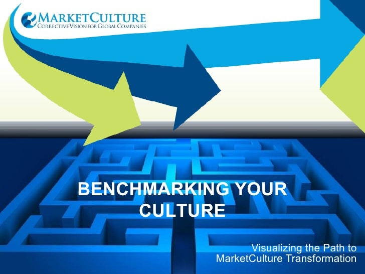 Visualizing the Path to MarketCulture Transformation BENCHMARKING YOUR CULTURE