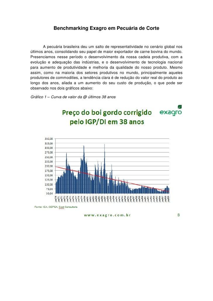 Benchmarking Exagro em Pecuária de Corte       A pecuária brasileira deu um salto de representatividade no cenário global ...