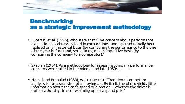 Traditional Methodology Benchmarking