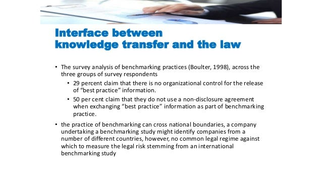 the concept of benchmarking Benchmarking is not a complex concept but it should not be taken too lightly benchmarking is basically learning from others it is using the knowledge and the experience of others to improve the organization.
