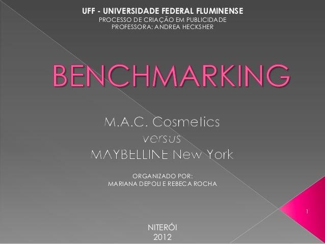 UFF - UNIVERSIDADE FEDERAL FLUMINENSE   PROCESSO DE CRIAÇÃO EM PUBLICIDADE      PROFESSORA: ANDREA HECKSHER           ORGA...