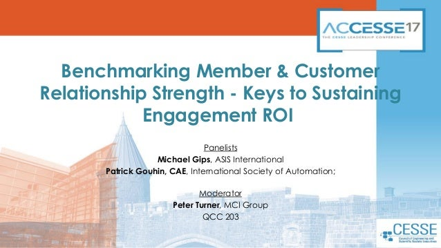 Benchmarking Member & Customer Relationship Strength - Keys to Sustaining Engagement ROI Panelists Michael Gips, ASIS Inte...