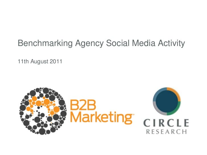 Benchmarking Agency Social Media Activity11th August 2011<br />