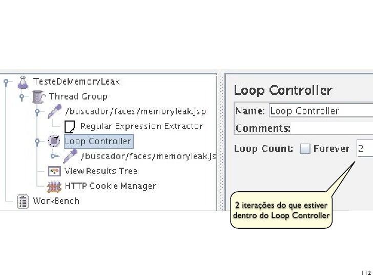 2 iterações do que estiver dentro do Loop Controller                                  112
