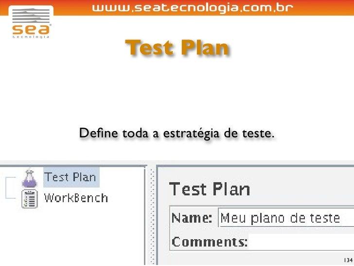 Test Plan   Define toda a estratégia de teste.                                         134
