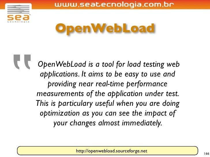 """OpenWebLoad     """"     OpenWebLoad is a tool for load testing web      applications. It aims to be easy to use and         ..."""