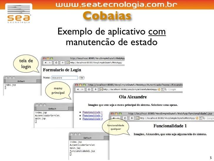 Cobaias               Exemplo de aplicativo com                 manutencão de estado tela de  login               menu    ...