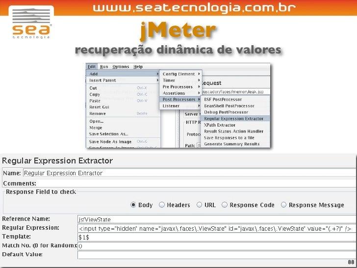 jMeter recuperação dinâmica de valores                                       88