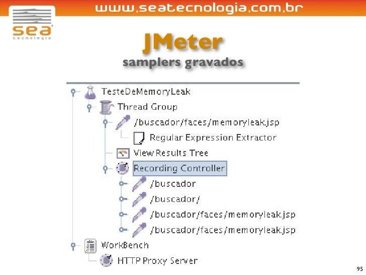 JMeter samplers gravados                         95