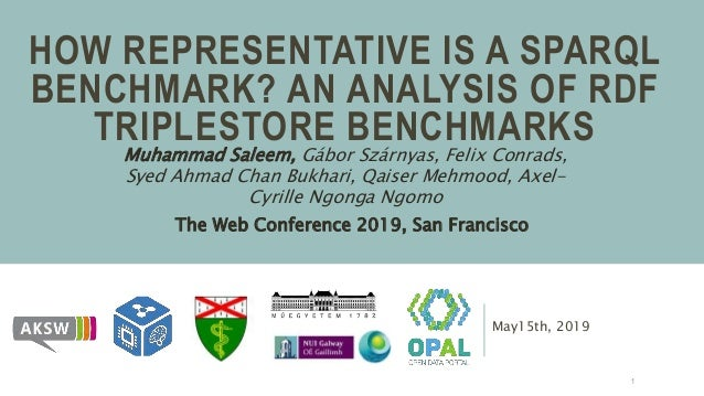 May15th, 2019 HOW REPRESENTATIVE IS A SPARQL BENCHMARK? AN ANALYSIS OF RDF TRIPLESTORE BENCHMARKS Muhammad Saleem, Gábor S...