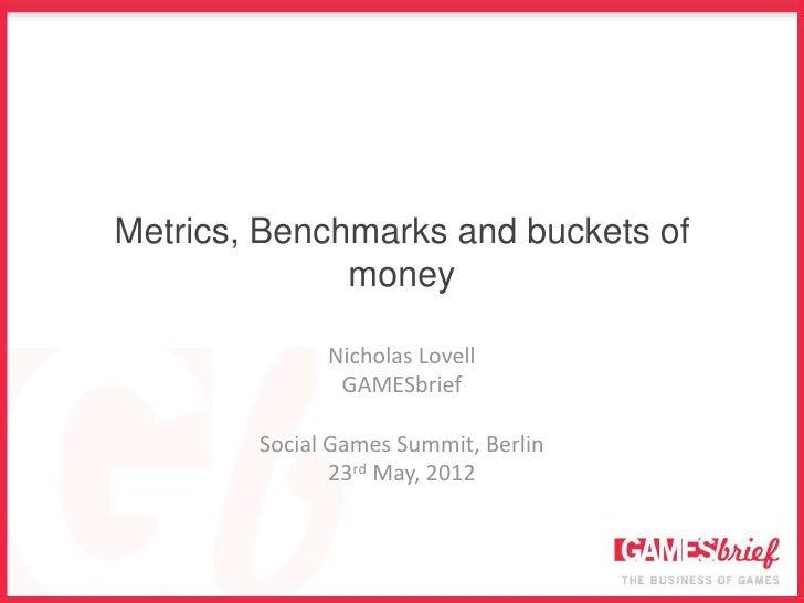 Metrics, Benchmarks and buckets of              money              Nicholas Lovell               GAMESbrief        Social ...