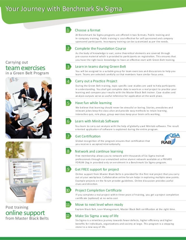Benchmark Six Sigma Green Belt Brochure
